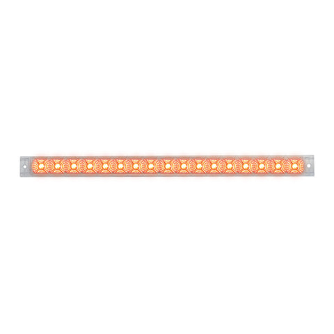 "Spyder 20"" Red 17 diode LED turn signal light bar - CLEAR lens"