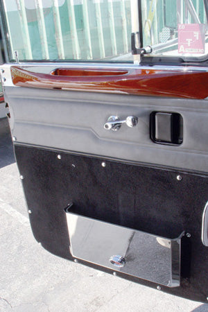 Peterbilt -2005 stainless steel door pocket cover w/emblem hole