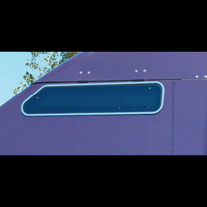 "Kenworth 86"" Studio Sleeper stainless steel swing window trim - PAIR"