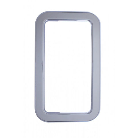 Kenworth w/Non-Daylite Door chrome plastic exterior view window cover
