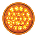 "Pearl amber 4"" round 24 diode LED turn signal light"