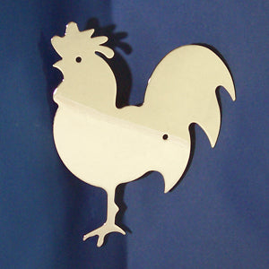 Large chrome chicken cutout w/welded mounting studs - Faces LEFT