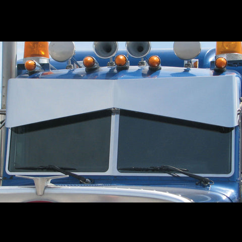 Peterbilt 379/389 stainless steel exterior windshield trim, 3 piece set