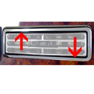 International I-model 1997+ chrome plastic air conditioner vent snap-on surround - 2/PACK