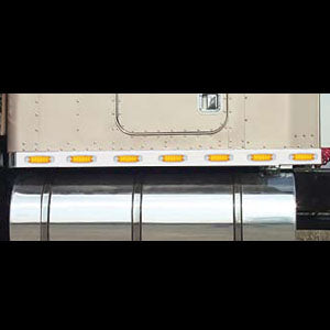 "Kenworth 72"" aero sleeper light panels w/wing extension and 14 combo light holes - PAIR"