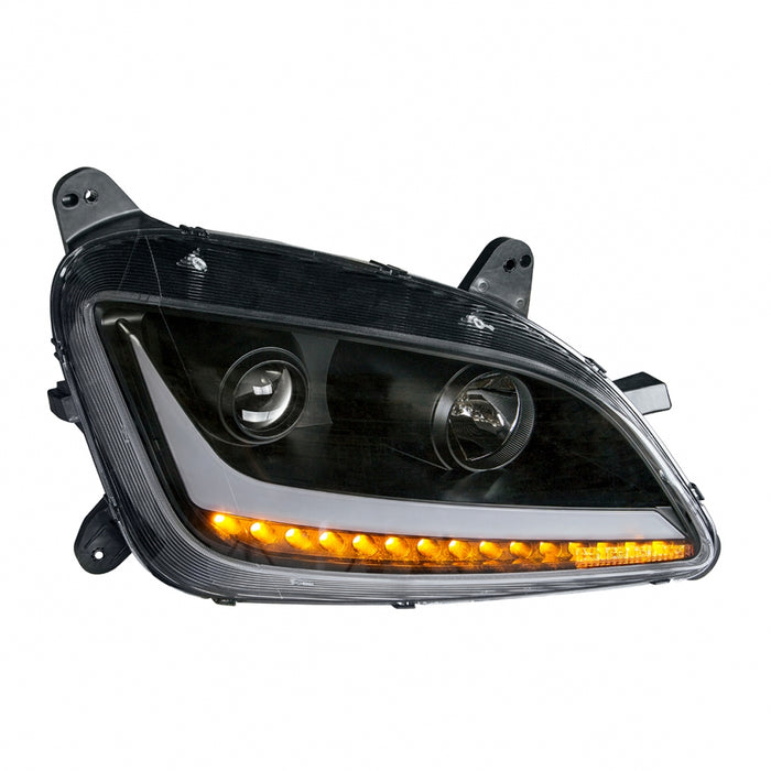 "Peterbilt 579/587 ""Blackout"" projection-style replacement headlight"