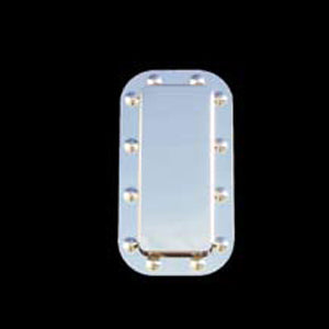 Peterbilt 359/379 stainless steel sleeper vent surround w/dimples