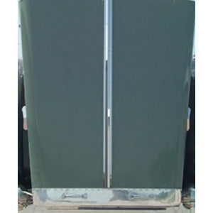 Peterbilt 379 extended hood stainless steel thin center hood trim