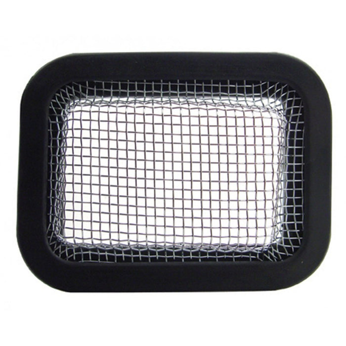 Rubber/chrome mesh rock guard - LARGE, for Kenworth
