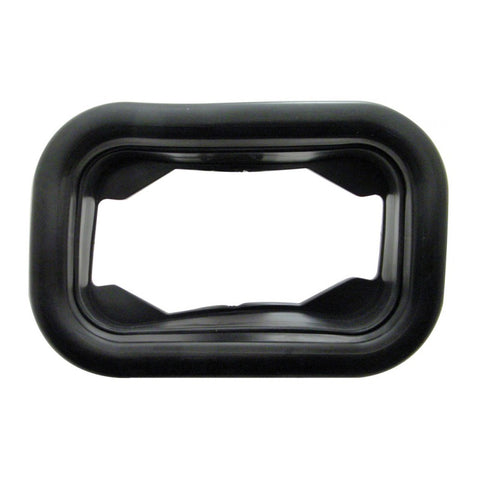 Rectangular Black rubber light mounting grommet