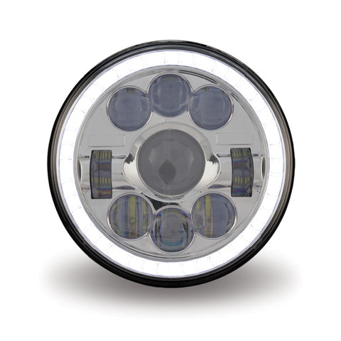 "7"" diameter single round LED headlight - 1320 lumens"