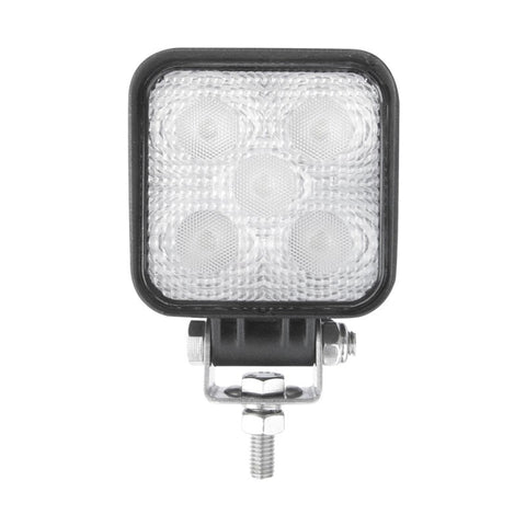 White 5 diode LED mini square spot work light - 900 lumens