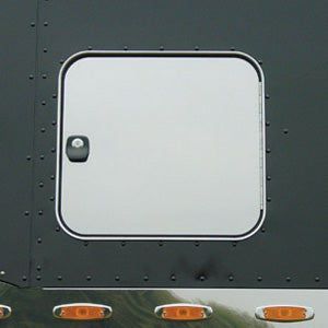 Peterbilt 379/389 2005+ stainless steel Unibilt sleeper storage door covers - PAIR