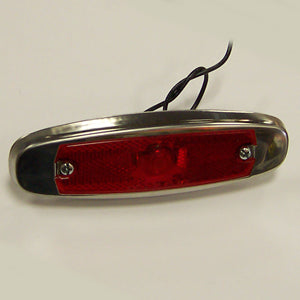 Red incandescent Peterbilt-style marker/clearance light