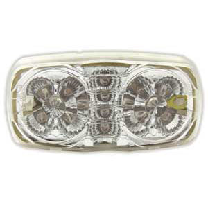 Red 16 diode tiger eye/double bubble LED marker light - CLEAR lens