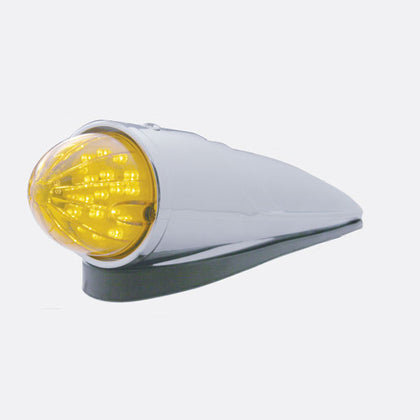 Amber 19 diode watermelon LED torpedo-style cab light without visor