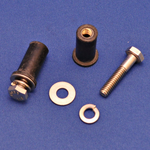 "3/4"" stainless steel bolt w/lock washer and neoprene well nut"