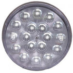 "Maxxima White 4"" round 18 diode LED dual-voltage backup light"