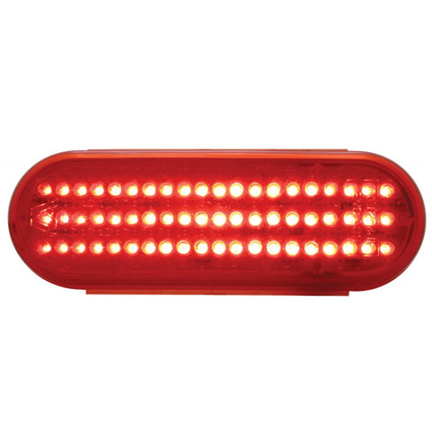 Red oval 60 diode LED stop/turn/tail light