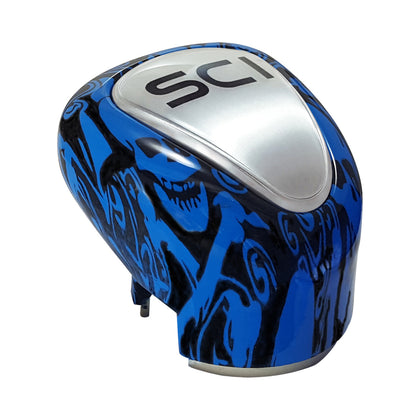 """Blue Skulls"" plastic gear shift knob for Eaton Fuller Transmissions"