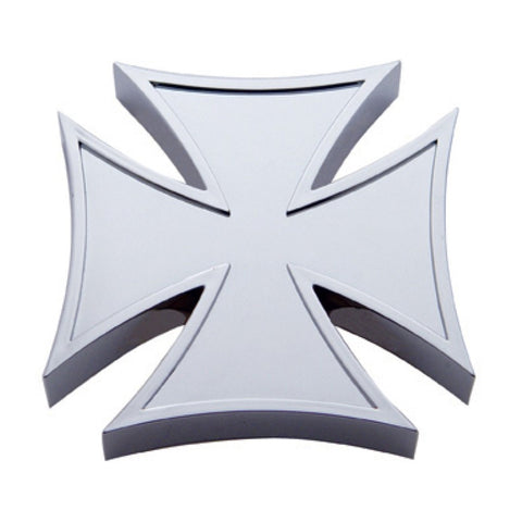 Chrome plastic iron cross hub cap spinner