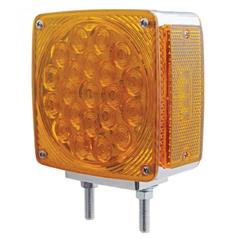 Amber/amber square 21 diode double-face LED 2-stud turn signal light