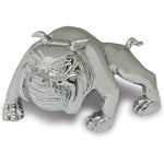 Prowling Bulldog chrome die-cast hood ornament