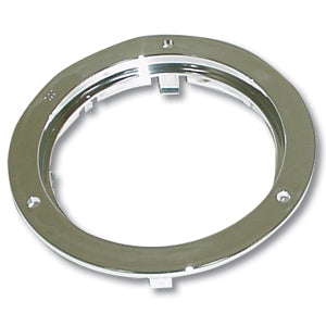 "4"" round chrome plastic light holding rim/mounting flange"