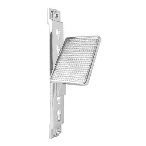 Chrome aluminum adjustable foot rest