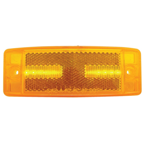 "Amber 2"" x 6"" rectangular 8 diode LED marker light"