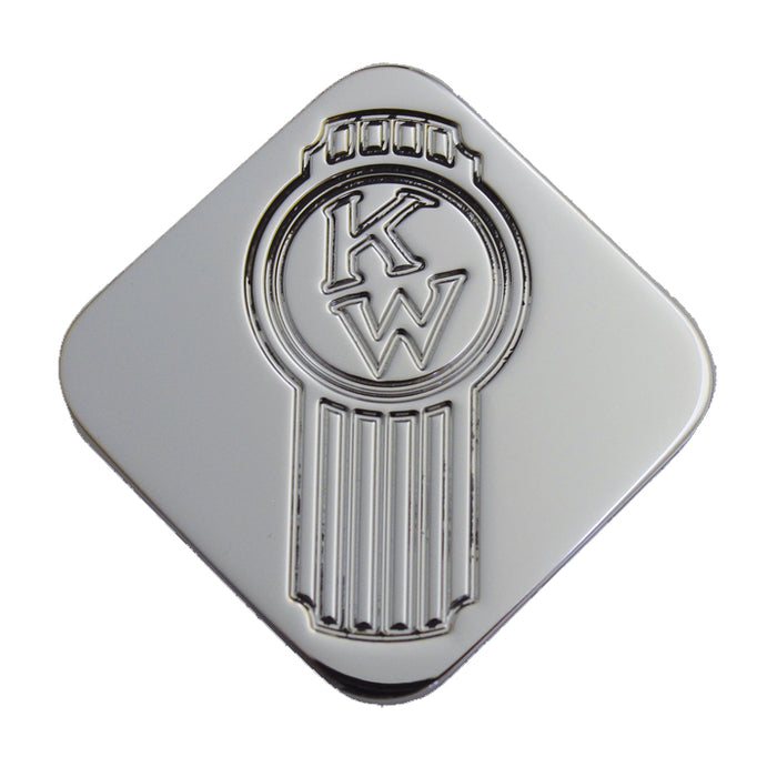 Kenworth logo chrome billet aluminum brake knob - SINGLE