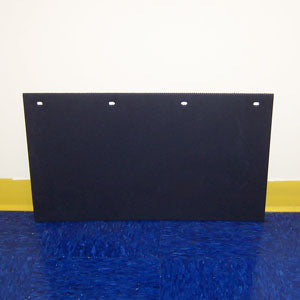 "Peterbilt 24"" x 14"" black step box mudflap"
