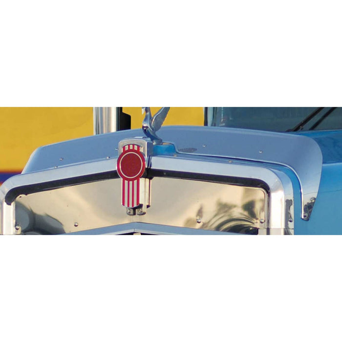 Kenworth W900L stainless steel bug deflector