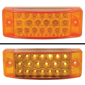 "Amber 2"" x 6"" rectangular 20 diode LED marker light"