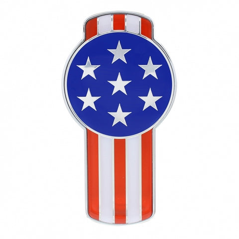 """American Flag"" replacement emblem for small Kenworth T680/T880 keyhole-shaped logos - SINGLE"
