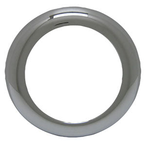 "4"" round ""Stealth"" chrome plastic screwless grommet cover - no visor"