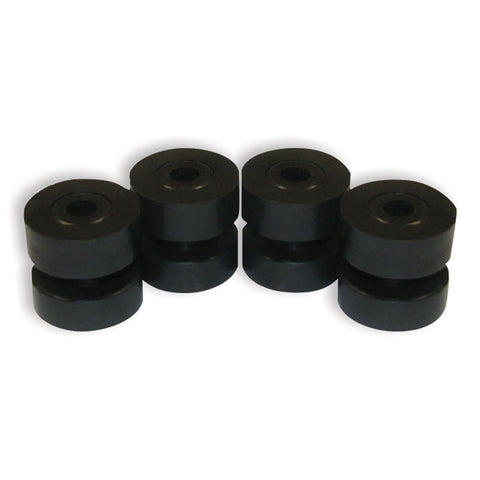 Poly rubber exhaust mounting bracket bushing/grommet - 4/PACK