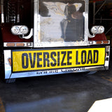 Yellow mesh oversize load banner w/EZ hook - truck size