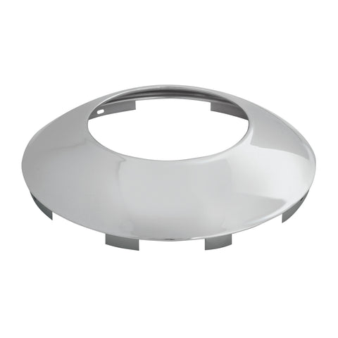 "Chrome 6 uneven notch front hubcap with 7/16"" lip - hubdometer"
