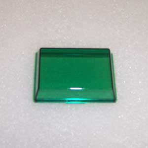 Peterbilt 379 rectangular plastic dome light lens - Green