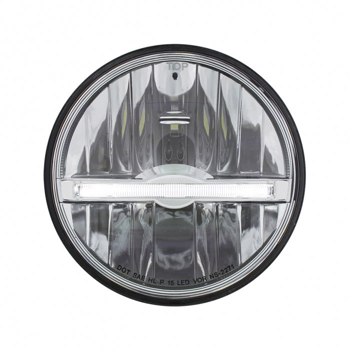 "5-3/4"" round headlight with 9 high-powered LED diodes, white LED position bar - SINGLE"