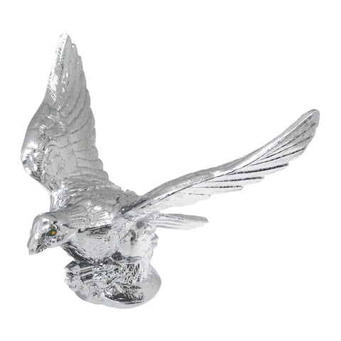 Flying Eagle chrome hood ornament w/illuminated eyes
