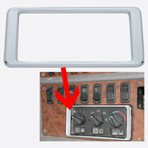 Peterbilt 387 chrome plastic air conditioner/heater panel surround