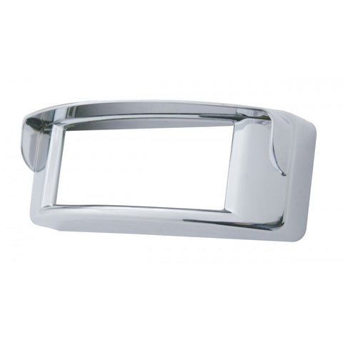 "Chrome plastic light bezel w/visor for 2"" x 6"" rectangular LED lights"