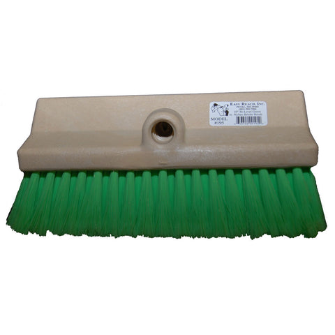 "10"" green extra-soft bristle angled truck wash brush"