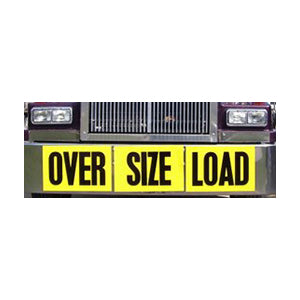 "60"" x 12"" reflective aluminum oversize load sign - one piece, single sided"