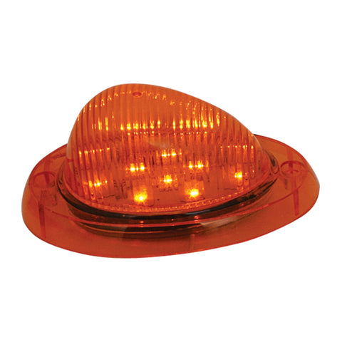 Freightliner amber 12 diode LED windfin turn signal light