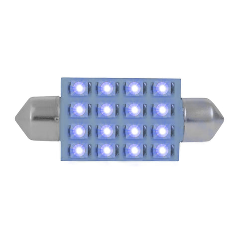 Super Bright 16-diode LED 211 dome light bulb - PAIR - Blue