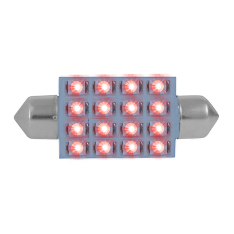 Super Bright 16-diode LED 211 dome light bulb - PAIR - Red