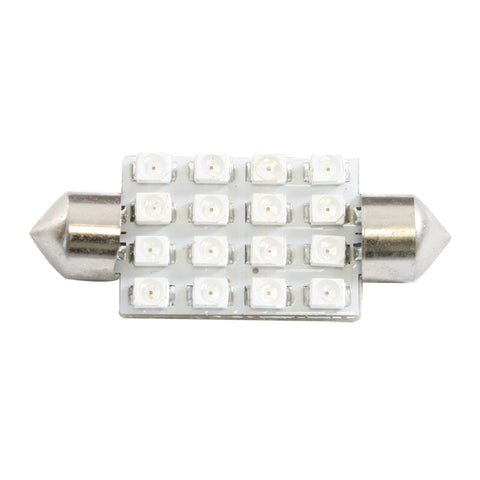 Super Bright 16-diode LED 211 dome light bulb - PAIR - White